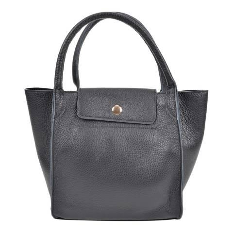 Roberta M Black Leather Roberta Top Handle Bag