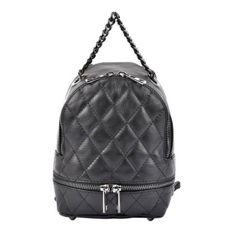 Roberta M Black Leather Roberta M Backpack