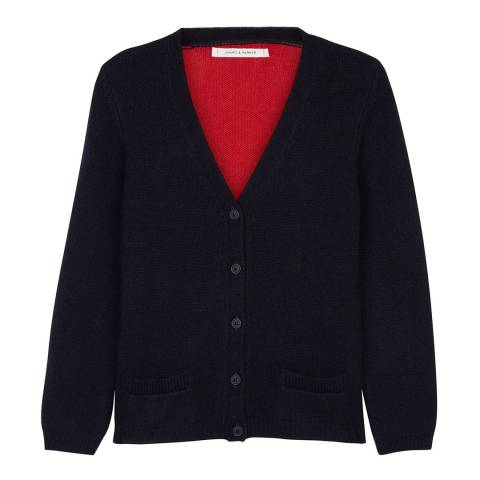 Chinti and Parker SHORT KNIT COLOUR BLOCK CARDIGAN