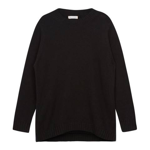 Chinti and Parker Black Zip Side Cashmere Jumper