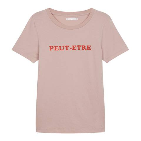 Chinti and Parker Pink Short Sleeve Peut- Etre T- Shirt