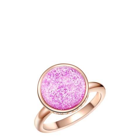 Lilly & Chloe Rose Gold/Pink Swarovski Crystals Ring
