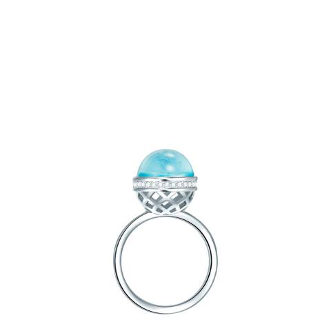 Lilly & Chloe Silver/Blue Swarovski Lattice Ring