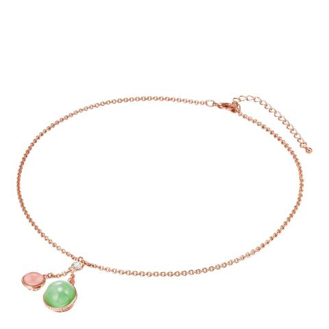 Lilly & Chloe Rose Gold Necklace Swarovski Crystals