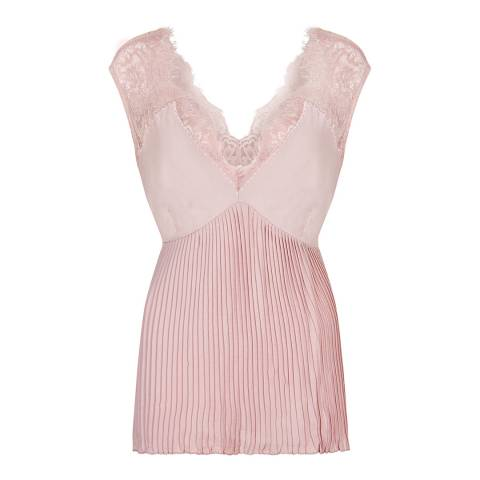 Nougat London Pink Flora Pleated Lace Camisole