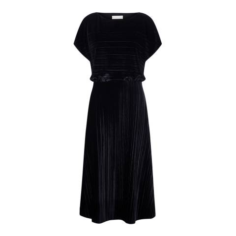 Nougat London Black Lena Crushed Velvet Dress