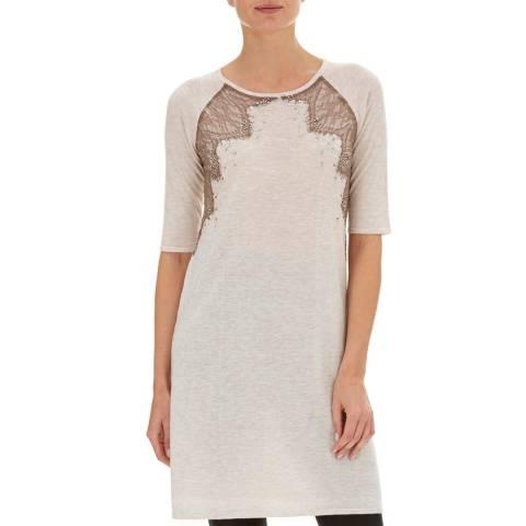 Nougat London Oatmeal Marigold Embellished Dress