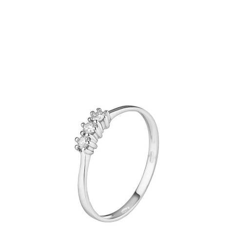 Pretty Solos White Gold Trilogy Diamond Ring 0.15Cts