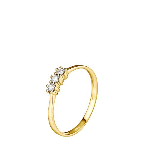 Only You Yellow Gold Trilogy Diamond Ring 0.15Cts