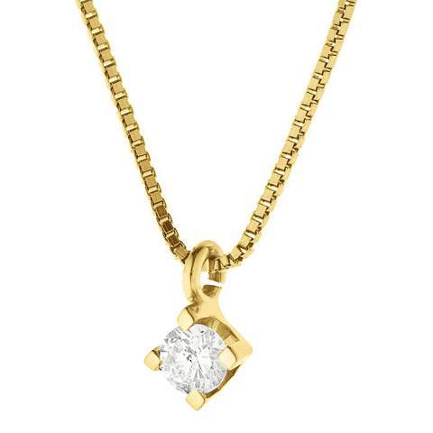 Only You Yellow Gold Set of 4 Claws Diamond Necklace