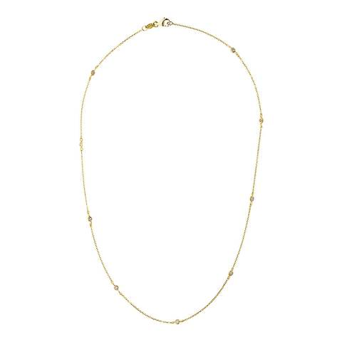 Only You Yellow Gold Tiffany Diamond Necklace