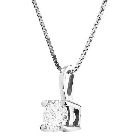 Only You White Gold Set of 4 Claws Diamond Necklace