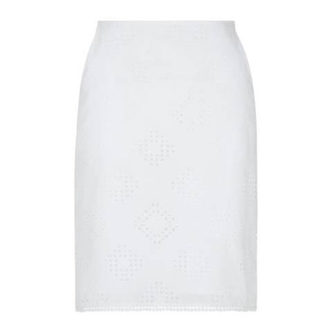 Hobbs London White Michaela Cotton Skirt