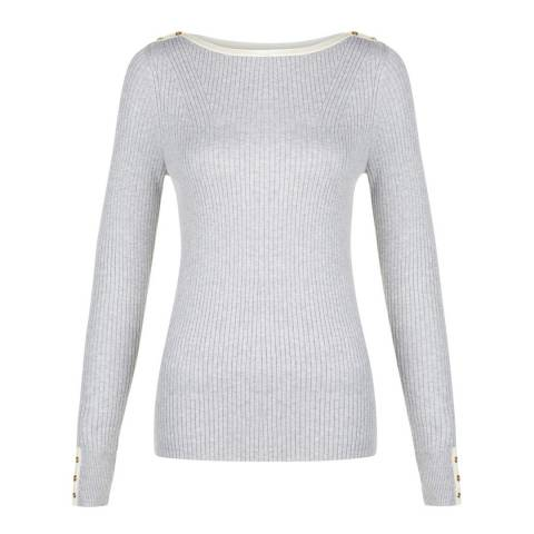 Hobbs London Light Grey Lorella Sweater
