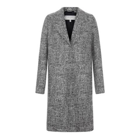 Hobbs London Black/Ivory Sabrine Coat