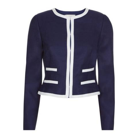 Hobbs London Ivory/Blue Sorcha Jacket