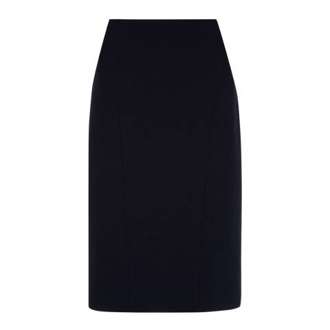 Hobbs London Navy Gabi Skirt