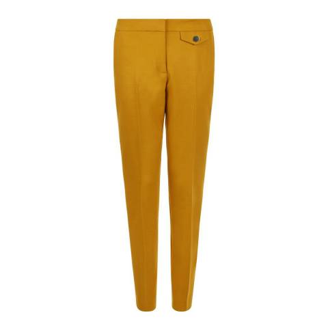 Hobbs London Golden Yellow Louise Trousers