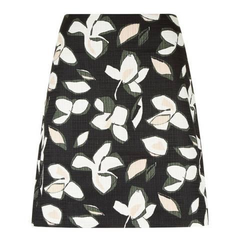 Hobbs London Navy/Multi Callie Cotton Skirt