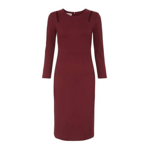 Hobbs London Burgundy Rochelle Dress