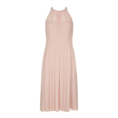 Hobbs London Light Pink Pleated Alexis Dress