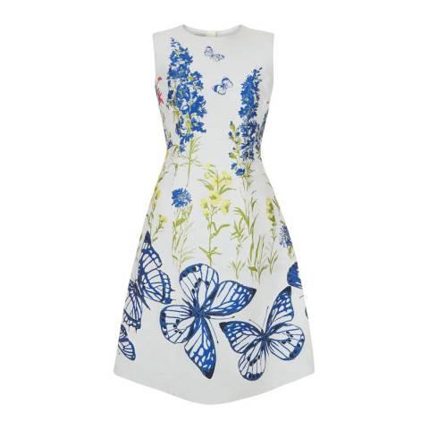 Hobbs London Ivory/Printed Caroline Dress