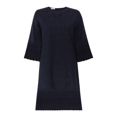 Hobbs London Navy Adelaide Cotton Dress