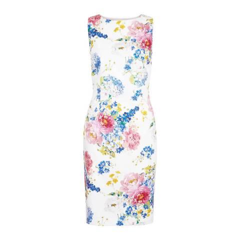 Hobbs London Ivory/Floral Dannie Dress