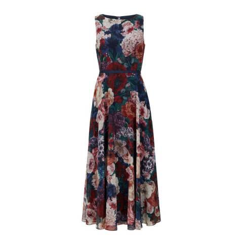 Hobbs London Navy/Floral Carly Dress