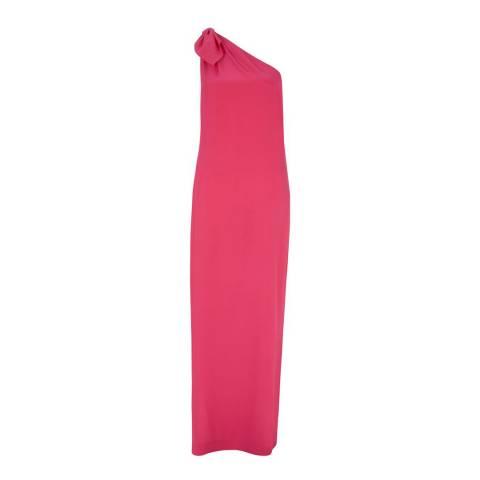 Hobbs London Pink Rosalie Silk Maxi Dress
