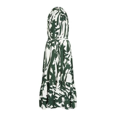Hobbs London Green/Floral Maida Dress