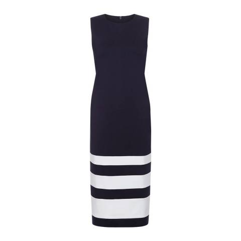 Hobbs London Navy/White Hollie Breton Dress