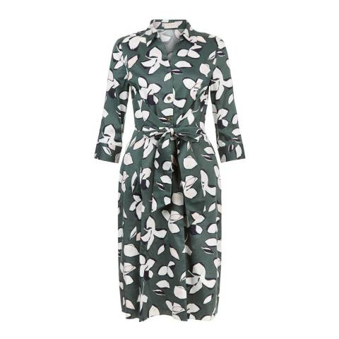 Hobbs London Green Floral Printed Val Dress