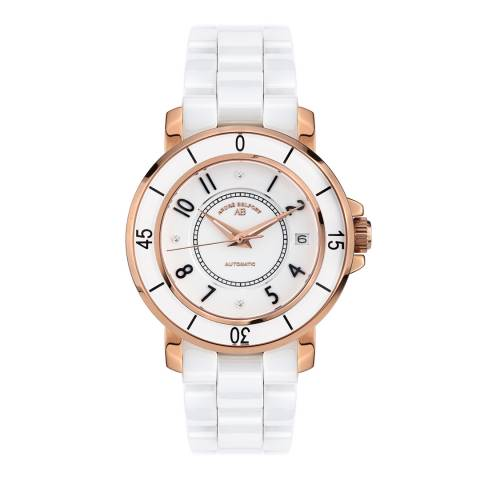 Andre Belfort Women's White / Rose Gold Aphrodite Watch