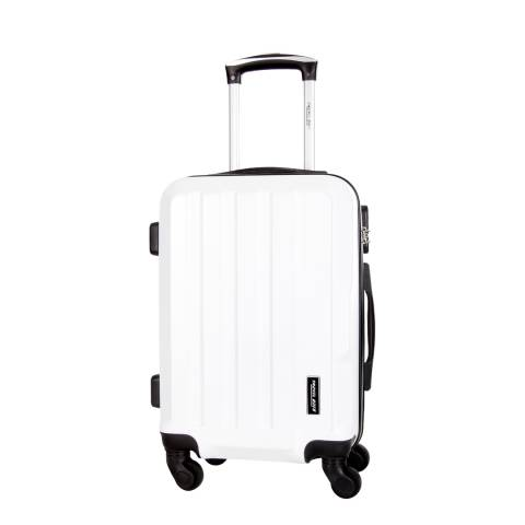 Travel One White Vilarosa 4 Wheel Medium Suitcase 56cm