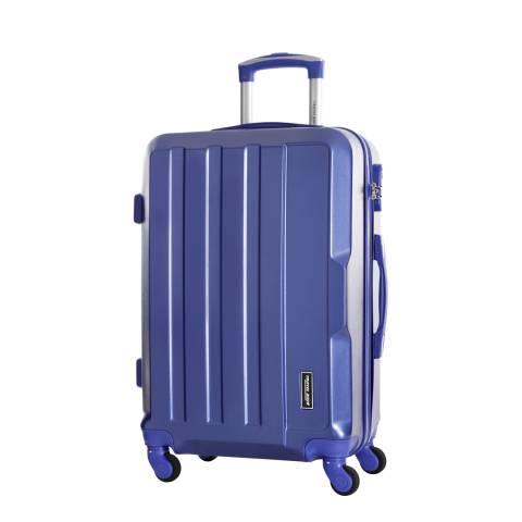 Travel One Blue Vilarosa 4 Wheel Medium Suitcase 56cm