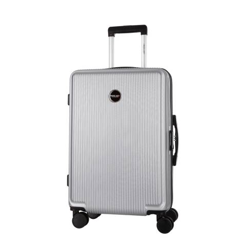 Travel One Silver Armada 8 Wheel Medium Suitcase 60cm