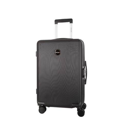 Travel One Black Armada 8 Wheel Small Suitcase 50cm