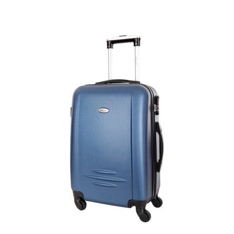 Travel One Blue Marine Burlin 4 Wheel Small Suitcase 50cm