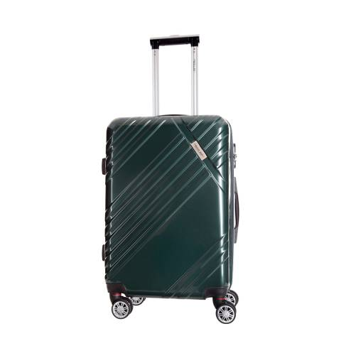 Travel One Green Rosciano 8 Wheel Small Suitcase 46cm