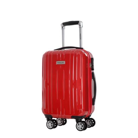 Travel One Red Clifton 8 Wheel Small Suitcase 45cm