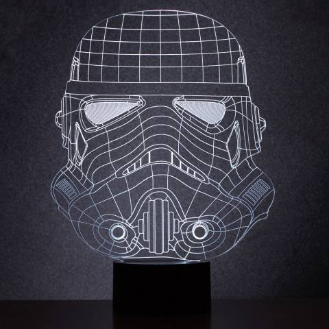 Thumbs Up Original Stormtrooper Wireframe Light