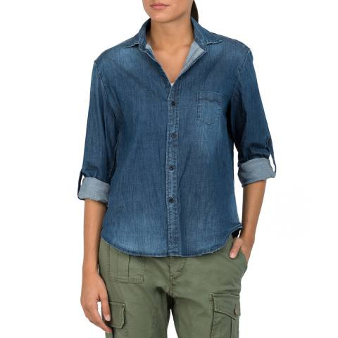 Replay Indigo Denim Shirt