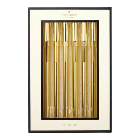 Kate Spade Pen Set, Strike Gold