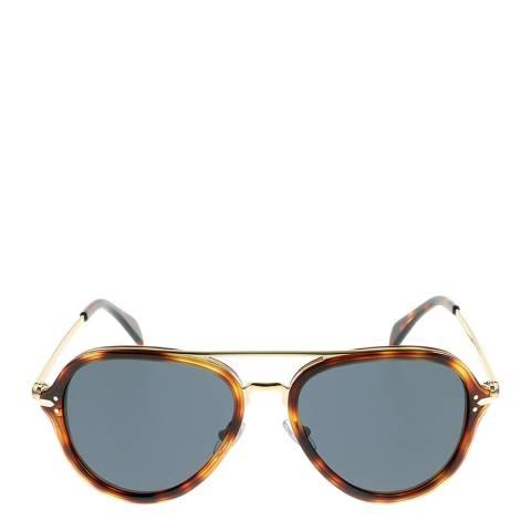 Celine Women's Havana Gold/Grey Sunglasses 54mm
