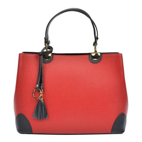 Isabella Rhea Red Leather Isabella Rhea Top Handle Bag