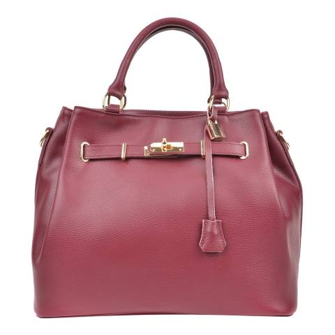 Isabella Rhea Wine Leather Isabella Rhea Top Handle Bag