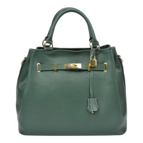 Isabella Rhea Green Leather Isabella Rhea Top Handle Bag