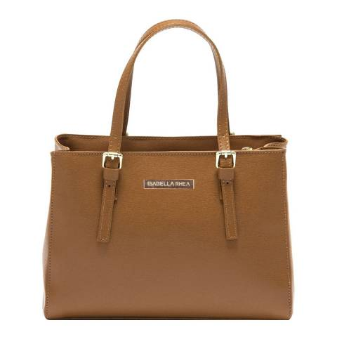Isabella Rhea Cognac Leather Isabella Rhea Tote Bag