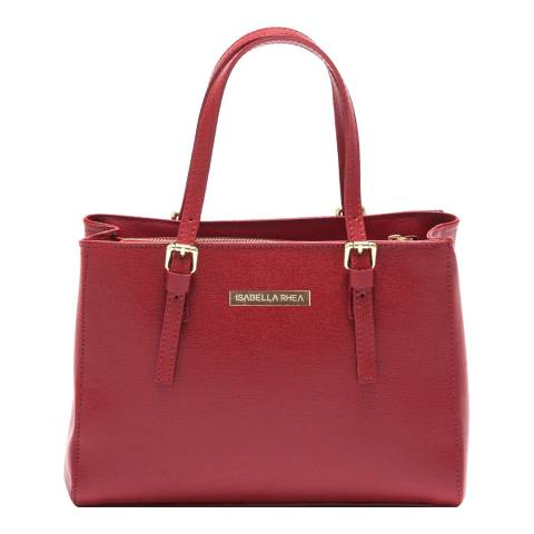 Isabella Rhea Red Leather Isabella Rhea Tote Bag